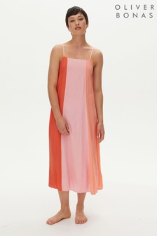 Oliver Bonas Red/Pink Colourblock Swing Dress