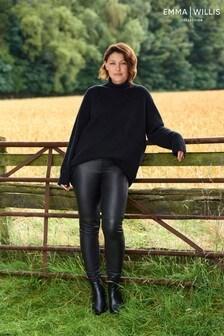 Black Emma Willis Leather Trousers