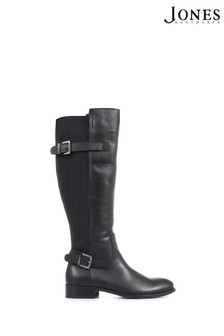 Jones Bootmaker Black Arya Ladies Leather Knee High Boots