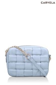 Carvela Blue Lexi Weave Cross Body Bag
