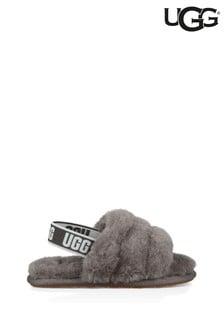 UGG Grey Fluff Yeah Slippers