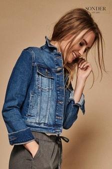 Sonder Studio Blue Studded Denim Jacket