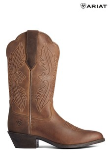 Ariat Brown Heritage R Toe Stretchfit Boots