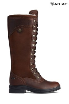 Ariat Brown Wythburn Tall Waterproof Lace Up Boots
