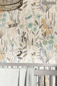 Harlequin Green Hide & Seek Children's Wallpaper