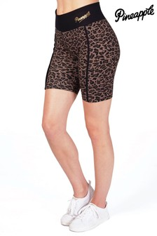 Pineapple Leopard Cycling Shorts