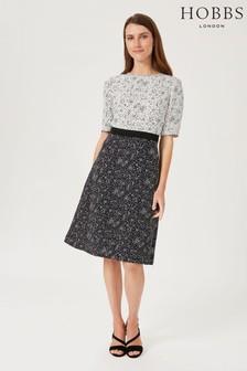 Hobbs White Black Caroline Dress
