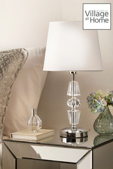 Village At Home Silver James Table Lamp