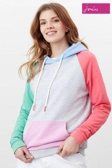Joules Grey Lil Raglan Hooded Sweatshirt