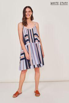 White Stuff White Stripe Woven Dress