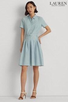 Lauren Ralph Lauren Chambray Denim Emerson Dress