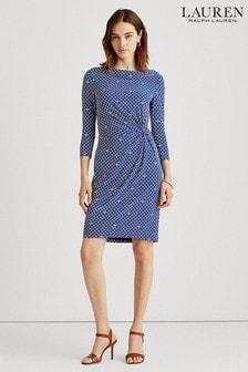 Lauren Ralph Lauren Blue Trava Print Dress
