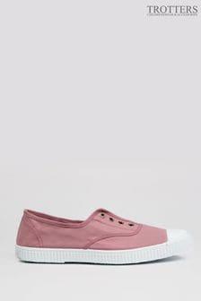 Trotters London Rosa Adult Plum Canvas Shoes