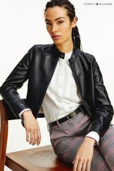 Tommy Hilfiger Black Leather Jacket