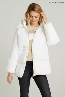 Tommy Hilfiger White Down Puffer Coat