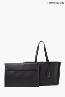 Calvin Klein Black Medium Shopper Bag