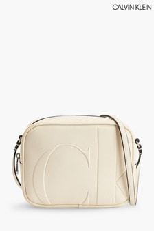 Calvin Klein Cream Large Camera Bag