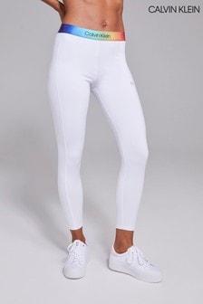 Calvin Klein White Pride Full Length Tights