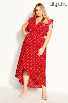 City Chic Red Love Maxi Dress