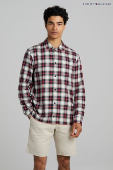 Tommy Hilfiger Brown Tartan Shirt