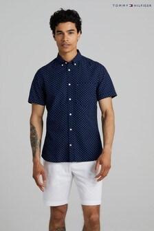 Tommy Hilfiger Blue Slim Short Sleeve Shirt