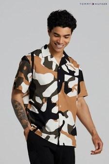 Tommy Hilfiger Cream Carbon Floral Camo Shirt