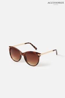 Accessorize Brown Rubee Flat-Top Sunglasses