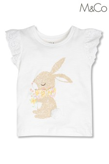 M&Co White Bunny T-Shirt