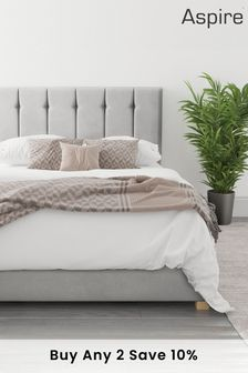 Silver Hepburn Ottoman Bed By Aspire