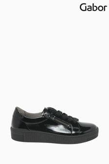 Gabor Wisdom Black Patent Casual Shoes