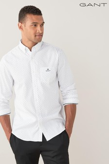 GANT Regular Micro Paisley Oxford Shirt