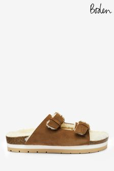 Boden Tan Cosy Slippers