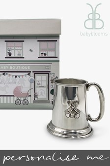 Babyblooms Traditional Pewter Tankard Christening Baby Gift