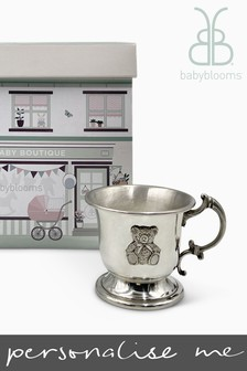 Babyblooms Traditional Pewter Cup Christening Baby Gift