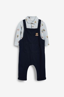 Navy Smart Bodysuit and Dungarees Set (0mths-3yrs)