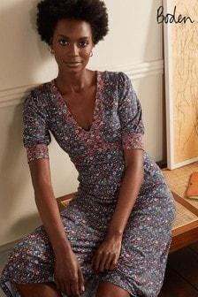 Boden Blue Eva Jersey Midi Dress