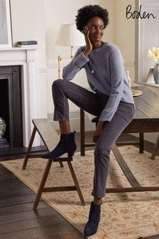 Boden Grey Cord Slim Straight Jeans