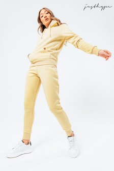 Hype. Womens Wheat Scribble Logo Hoodie And Joggers Set