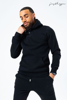 Hype. Mens Black Scribble Logo Hoodie And Jogger Set