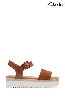 Clarks Dark Tan Lana Shore Sandals