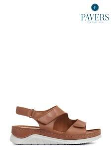 Pavers Ladies Fully Adjustable Leather Sandals