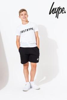 Hype. Black Script Shorts