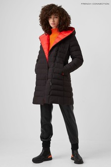 French Connection Black Iolani Puffer Coat