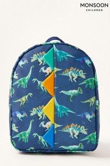Monsoon Blue Dinosaur Print Backpack