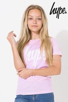 Hype. Kids Pink Script T-Shirt