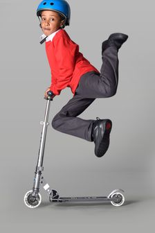 Micro Scooter Silver Sprite LED Scooter 5-12 Years