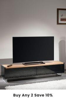 Panorama 1.6m Oak TV Stand By AVF