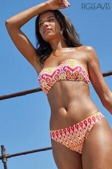 Figleaves Jaipur Mindful Underwired Bandeau Strapless Bikini Top