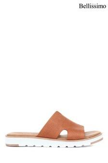 Jones Bootmaker Ladies Brown Leather Slider Sandals