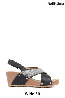 Bellissimo Ladies Wide Fit Wedge Sandals